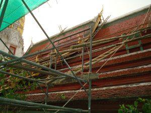 Photo 101 : Echaffaudage en bambou (courant)